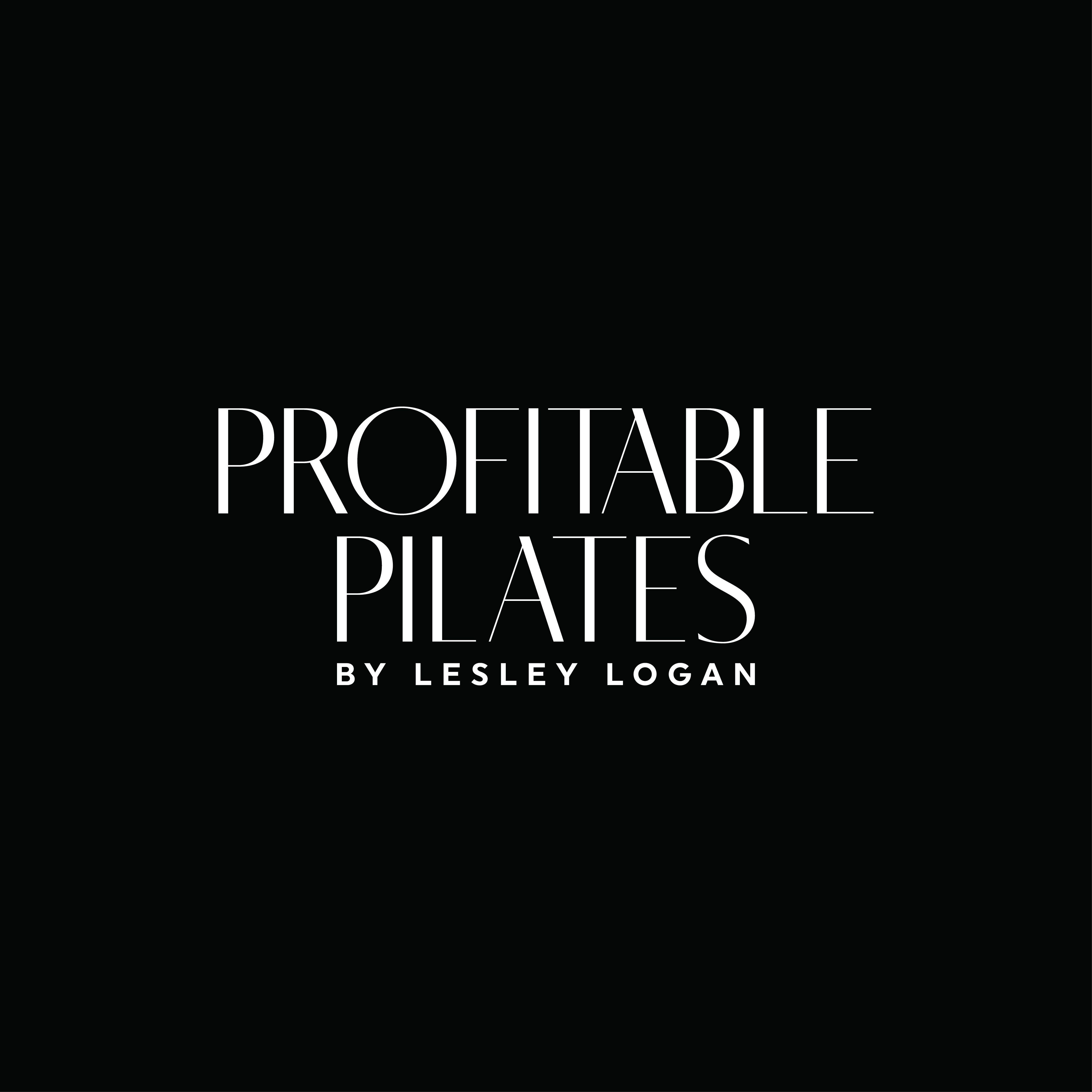 Profitable Pilates Everything But the Exercises by Lesley Logan - Logo
