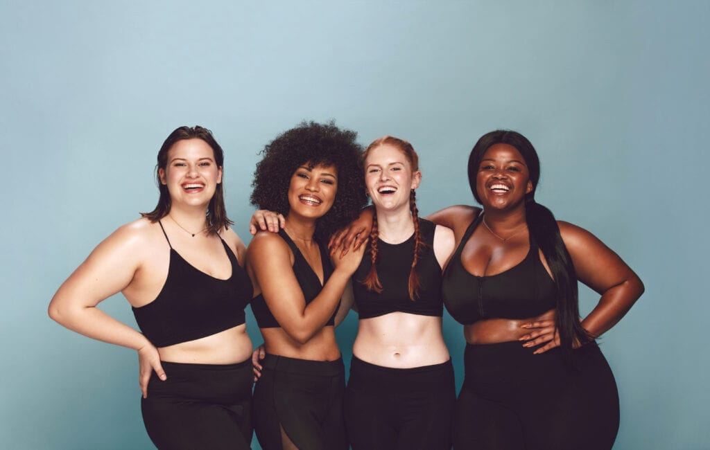 Diverse Women laughing together