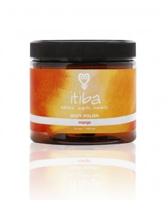 Jar of itiba mango body polish
