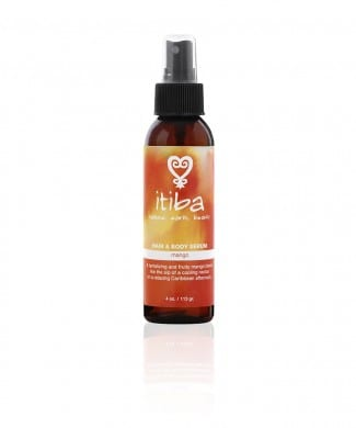 Itiba beauty's mango hair and body serum for healing through the natural environment