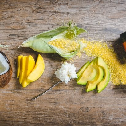 Caribbean mango, avocado and traditional Nevis healing ingredients in mango body polish for healthy skin
