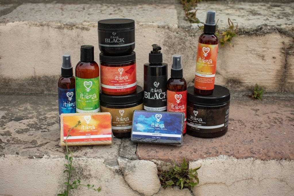 itiba Beauty collection of caribbean beauty products