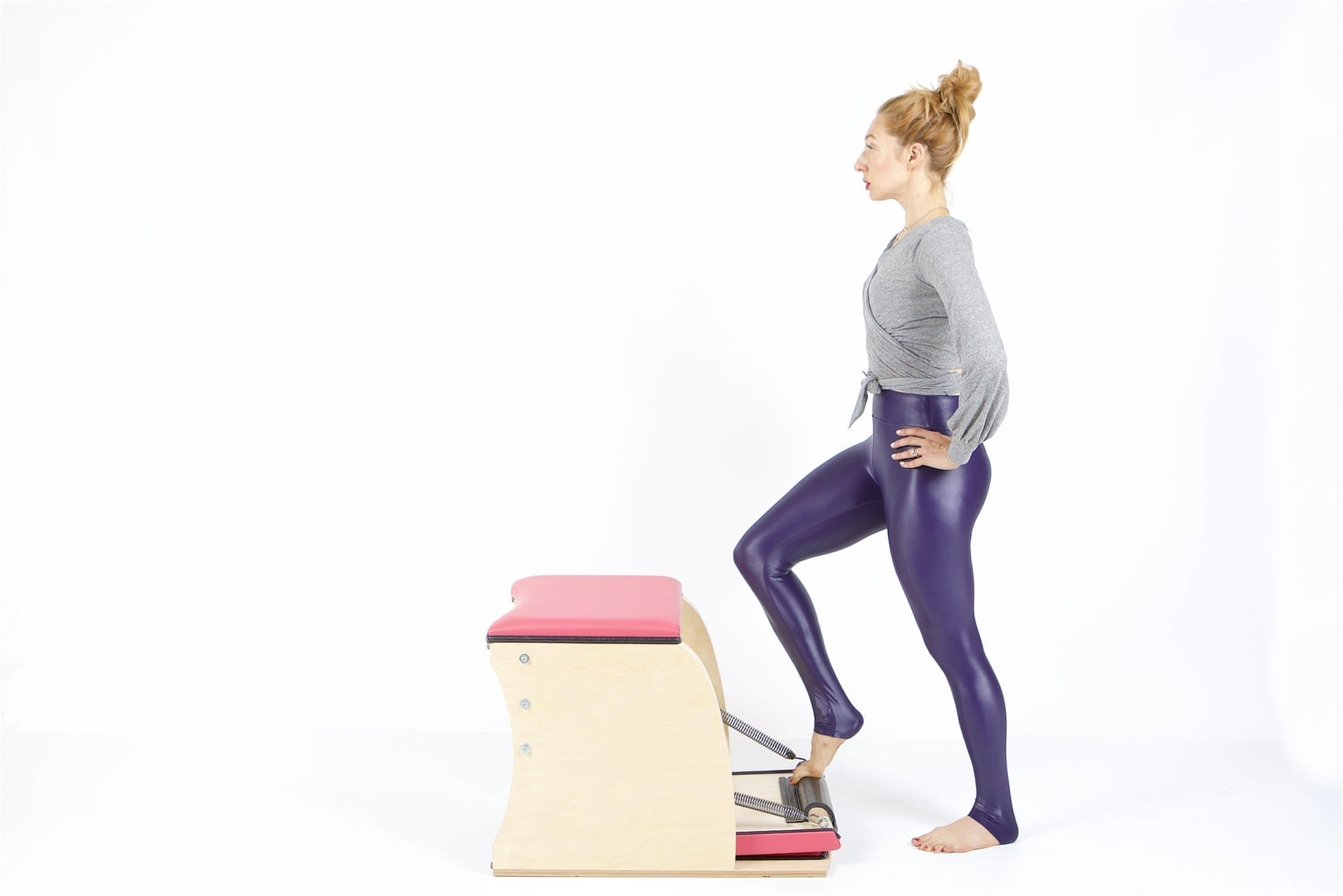 Standing Press Down Front on the Wunda Chair - Online Pilates Classes