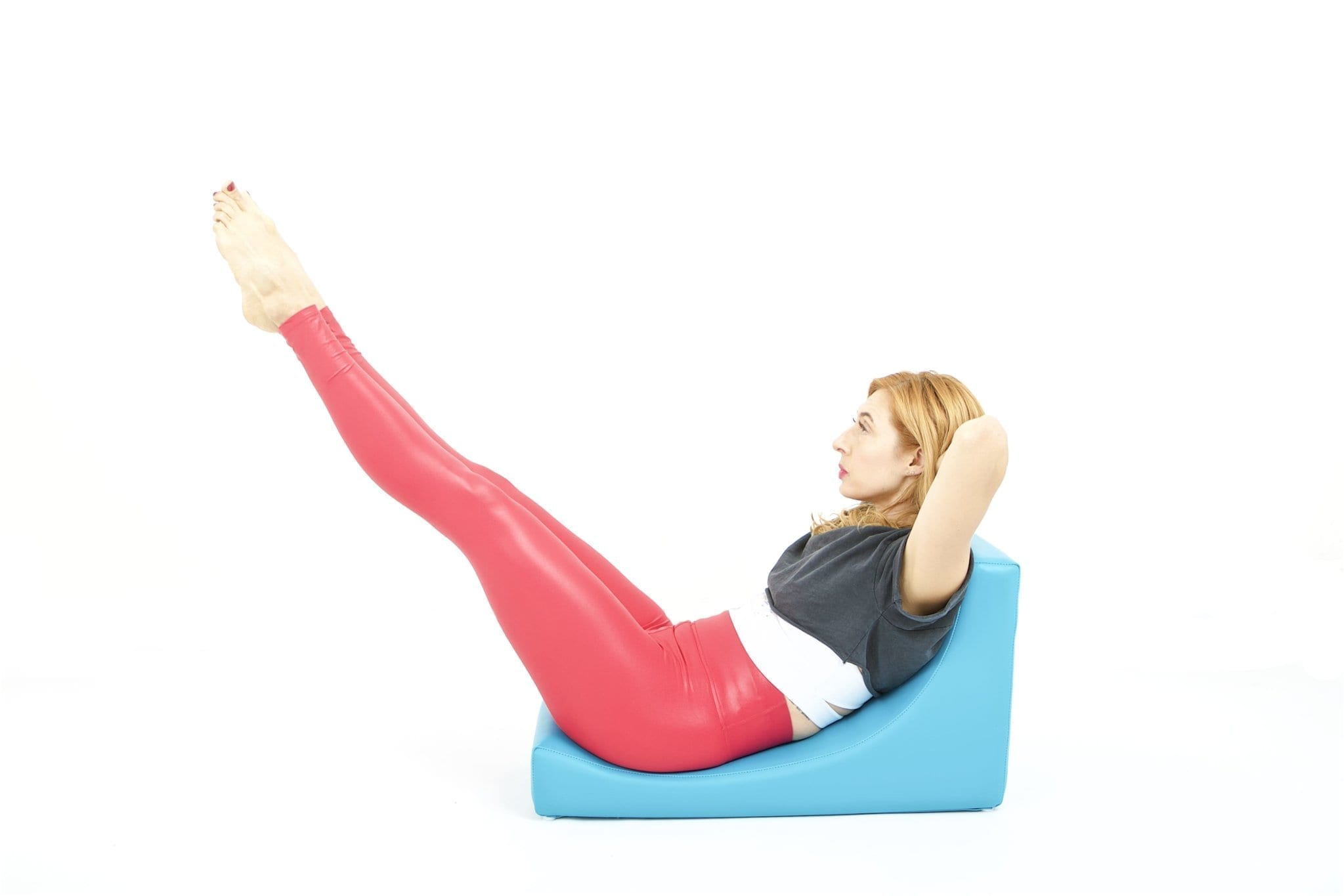 Double Straight Leg Stretch on the C-Shaper | Online Pilates Classes
