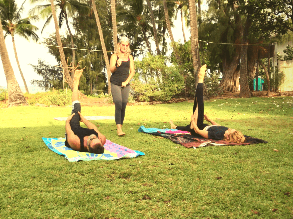 Pilates Retreat Maui - Lesley Logan & Arlene Salomon 2018 - Day 6 Mat Class 1 - PilatesRetreatMaui.com filtered