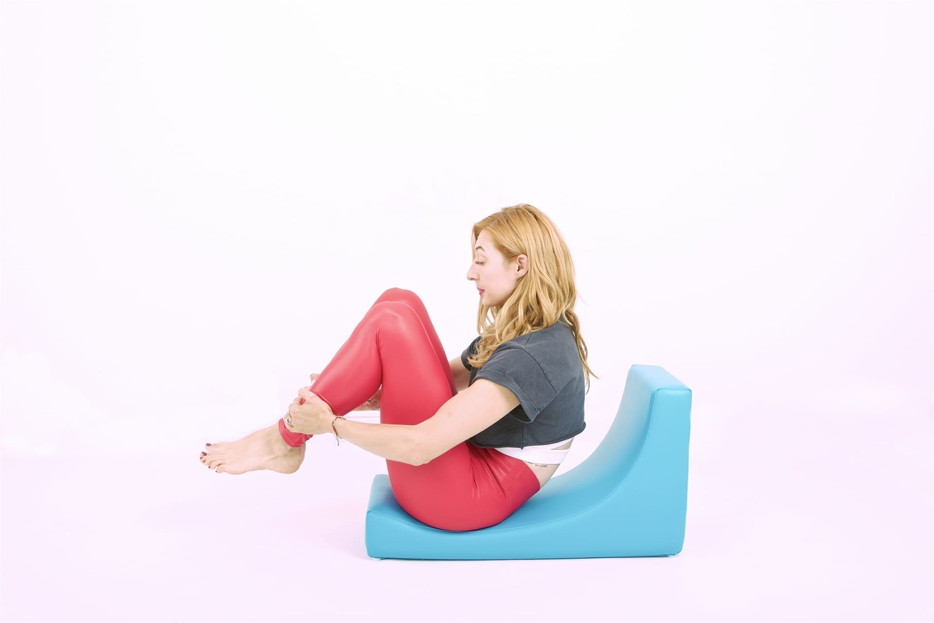 Rolling Like a Ball on the C-shaper | Online Pilates Classes