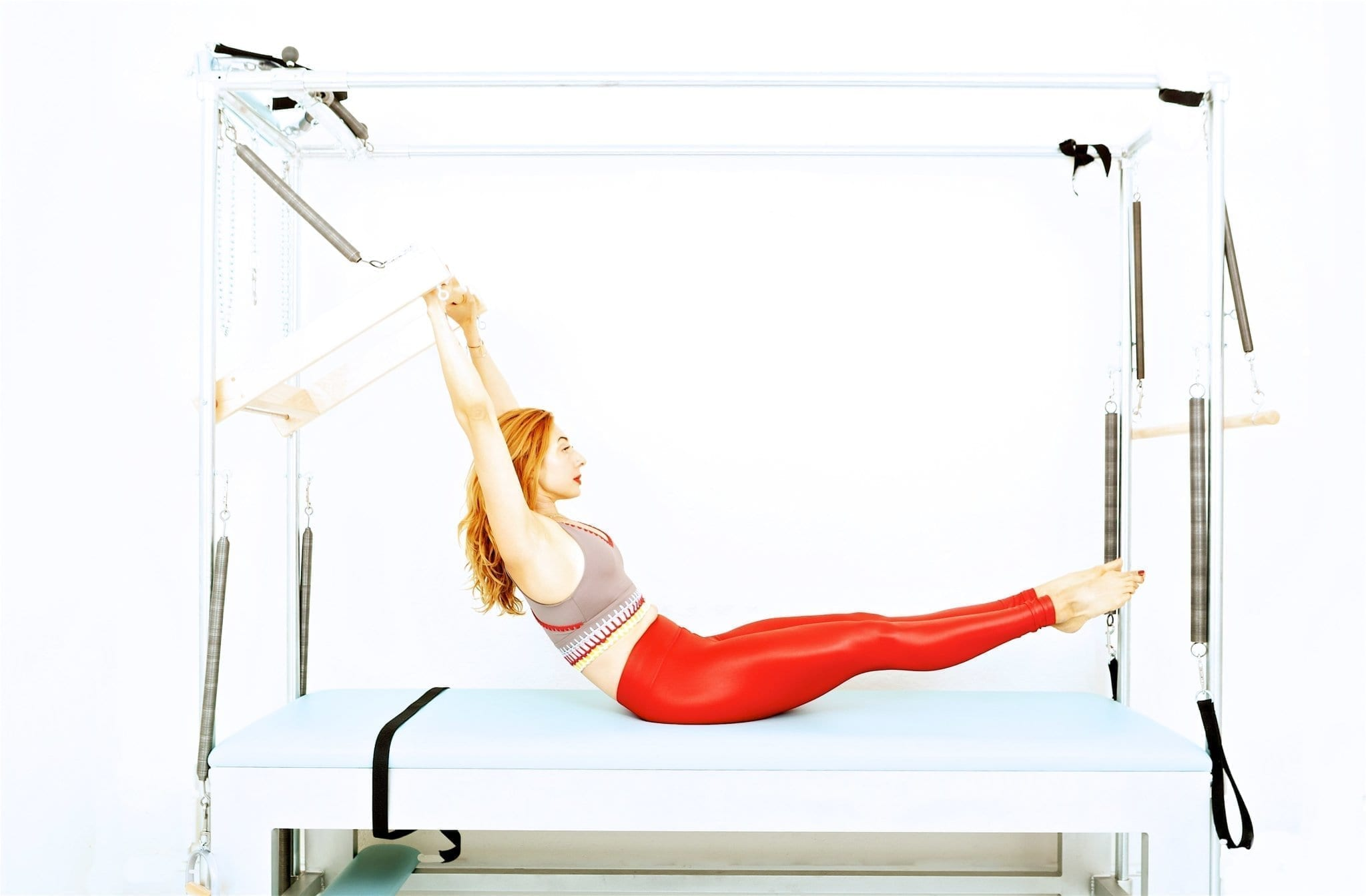 Teaser with the Push Through Bar | Online Pilates Classes