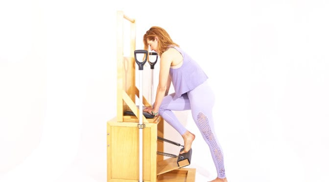 Tendon Stretch on the High Chair | Online Pilates Classes