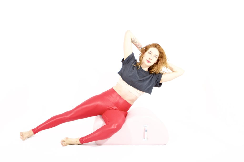 Side Sit Ups on the Spine Corrector   Online Pilates Classes