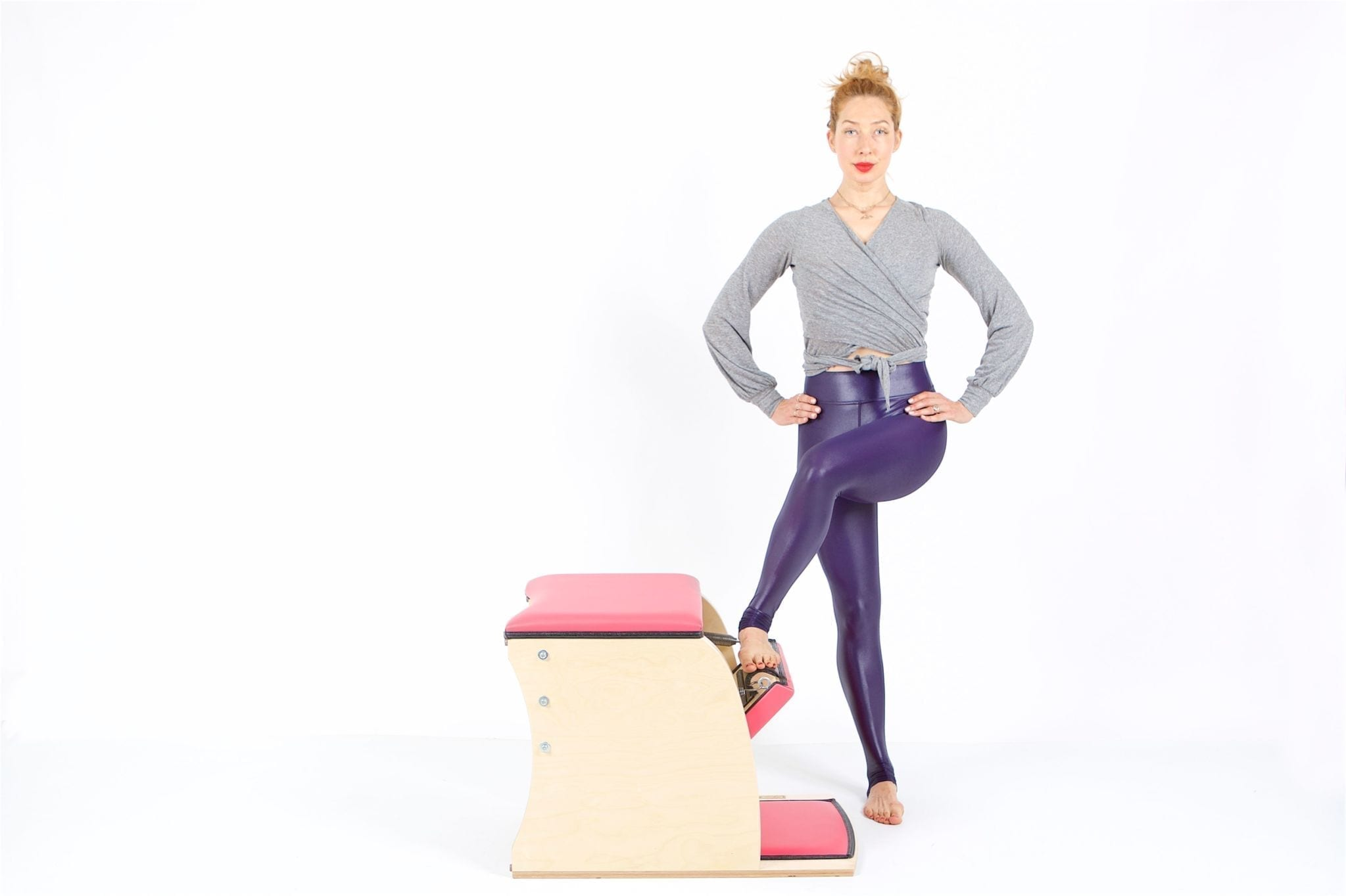 Standing Press Down Cross Over on the Wunda Chair | Online Pilates Classes