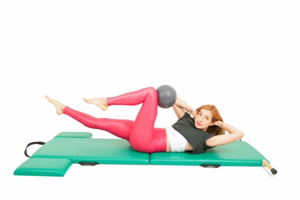 Ab Series of 5 with a Ball on the Mat | Online Pilates Classes