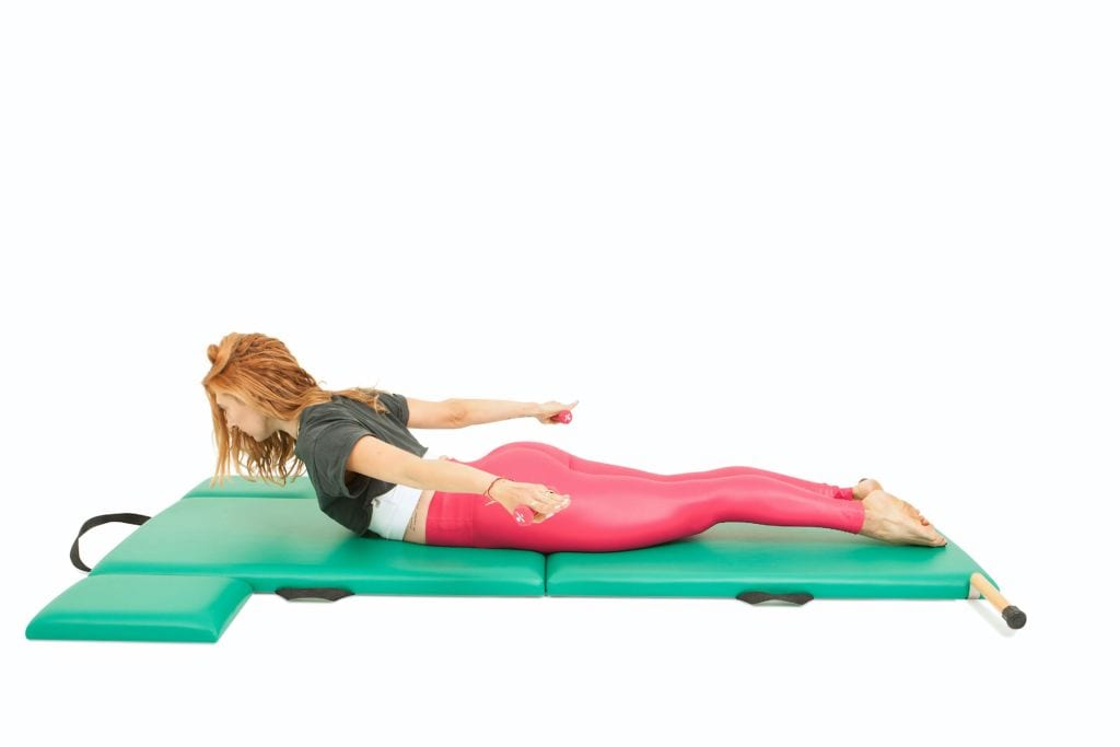 Pulling Straps with Weights on the Mat | Online Pilates Classes