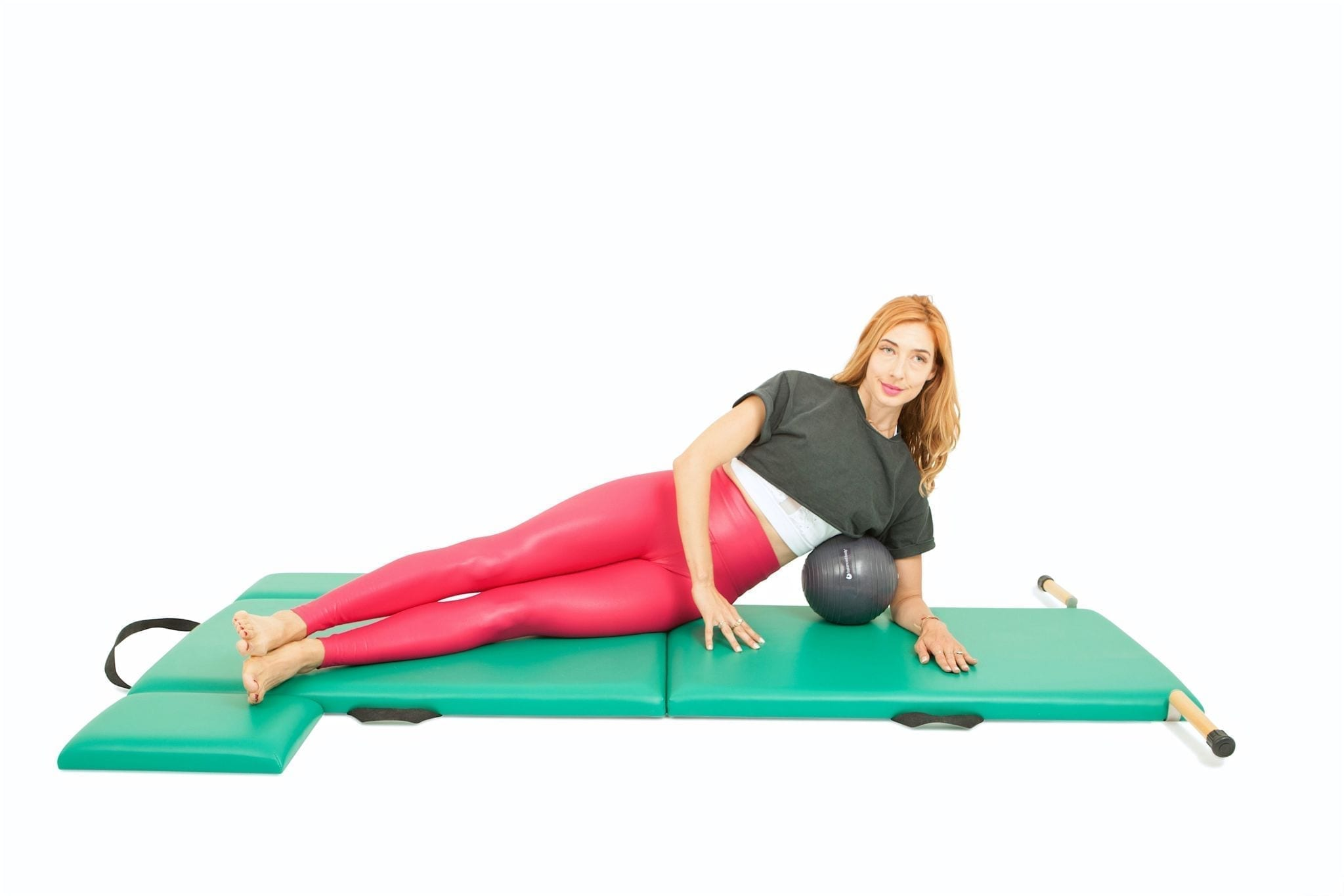 Side Kicks with a Ball on the Mat | Online Pilates Classes