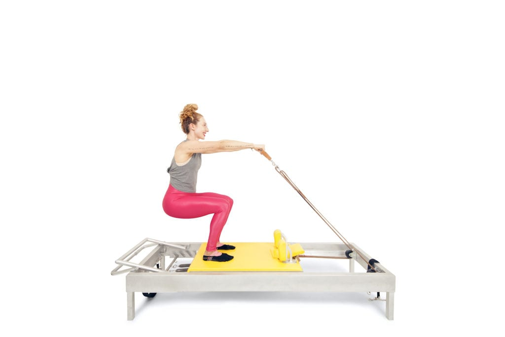 Russian Squats on the Reformer | Online Pilates Classes