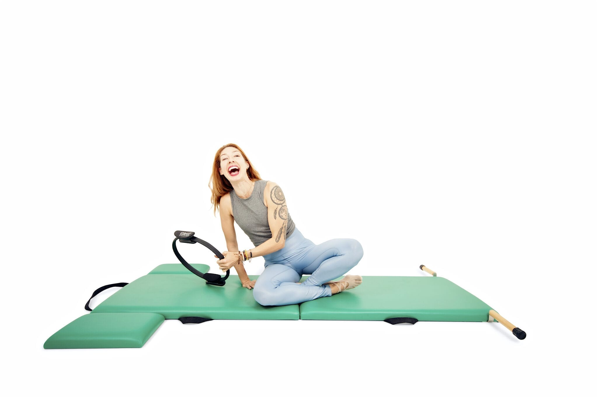 Standing Leg Exercises with the Magic Circle on the Mat | Online Pilates Classes
