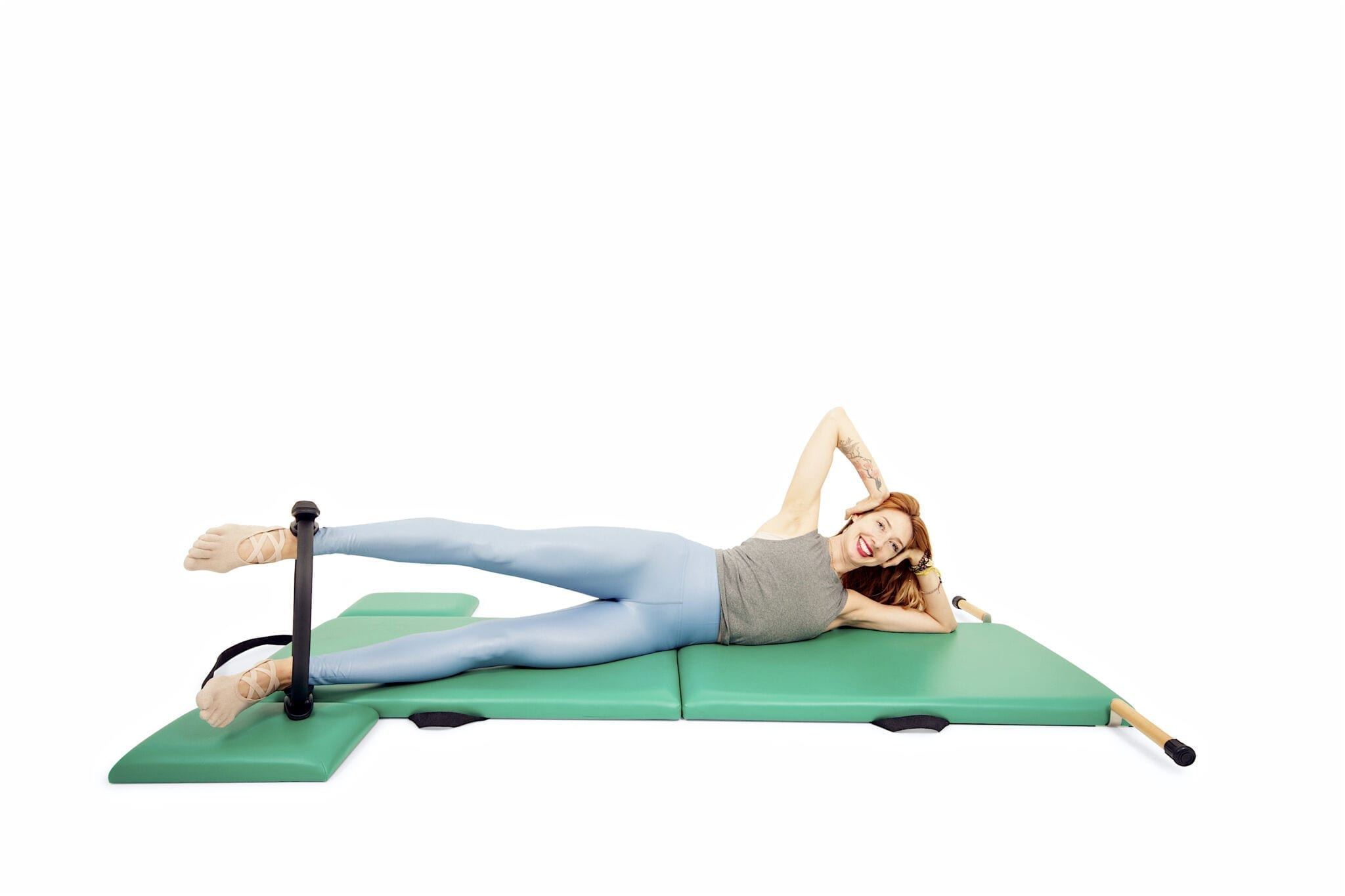 Side Kicks with the Magic Circle on the Mat | Online Pilates Classes
