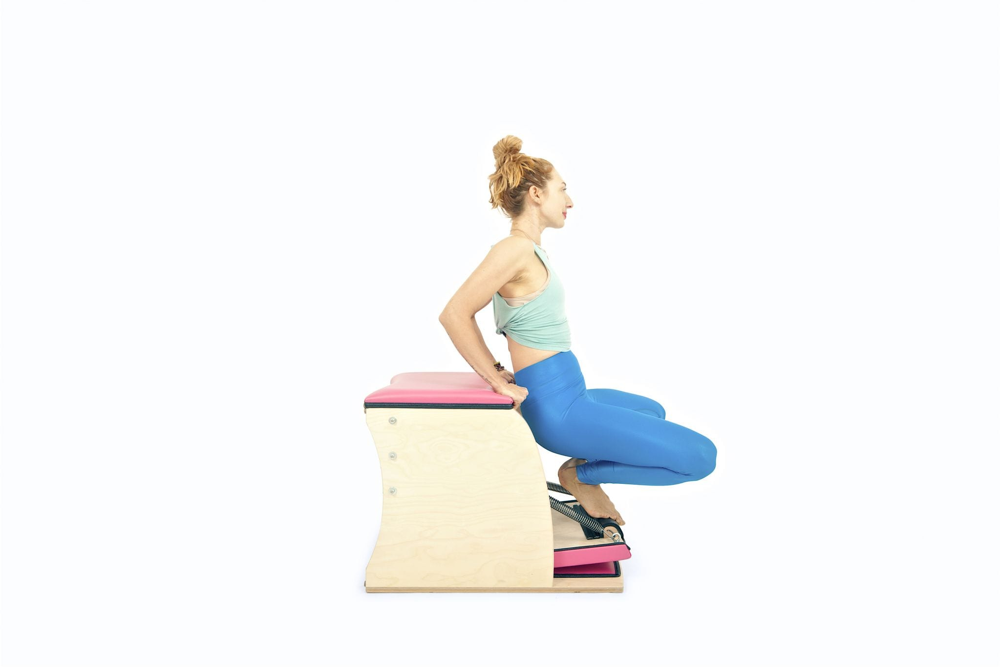 Frog Facing Out on the Wunda Chair | Online Pilates Classes