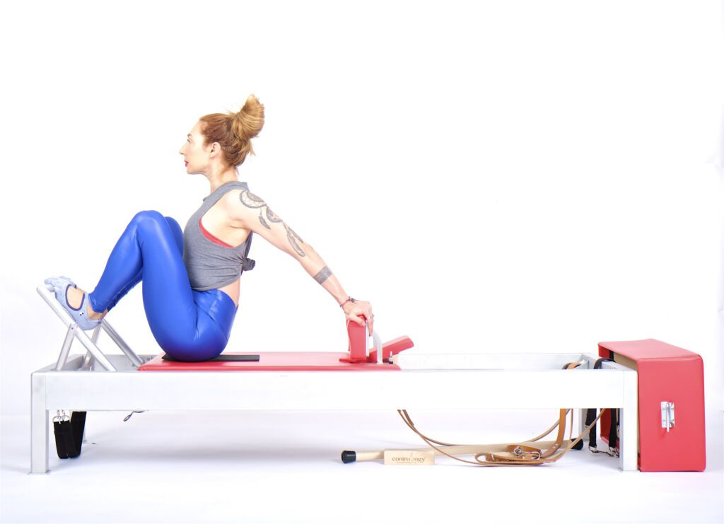 Stomach Massage Hands Back on the Reformer | Online Pilates Classes