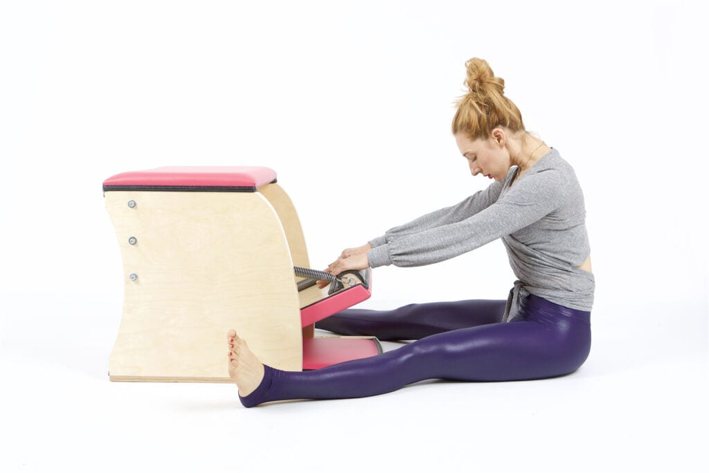 Spine Stretch Forward on the Wunda Chair | Online Pilates Classes