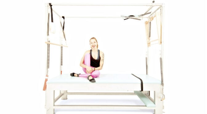 Swan with Push Through Bar but No Spring on the Cadillac | Online Pilates Classes