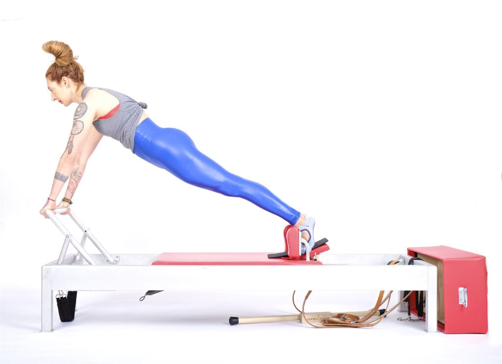 long stretch on the reformer | Online Pilates Classes