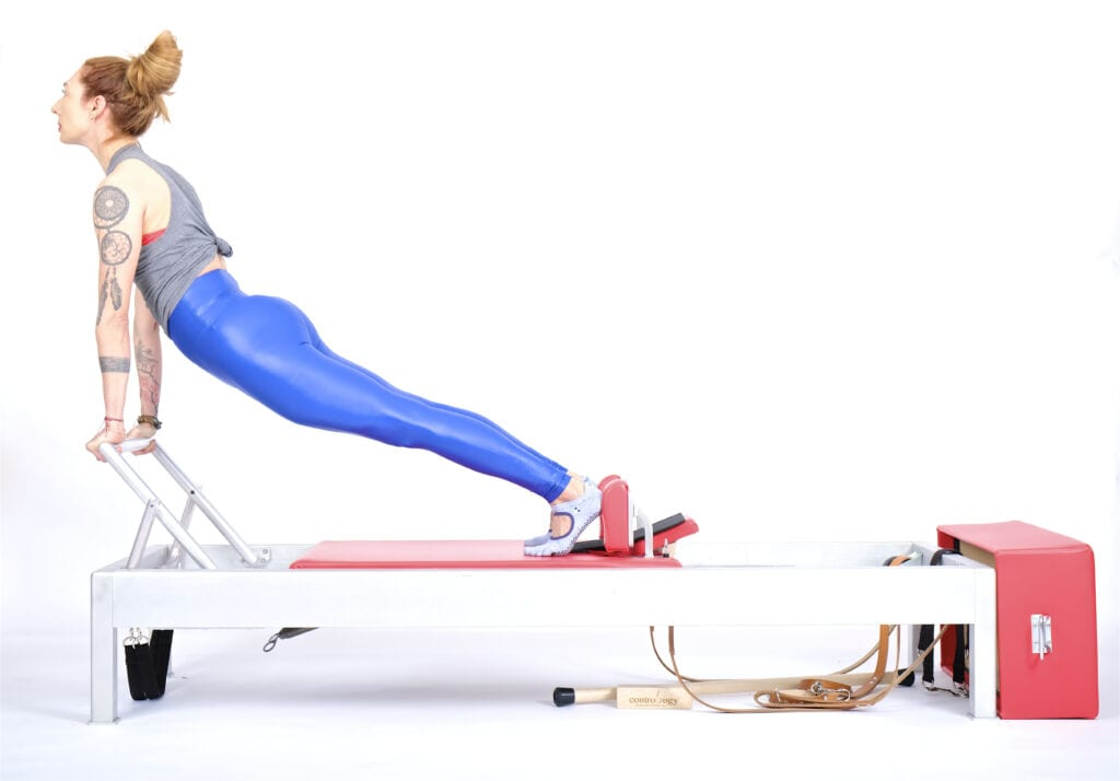 up stretch combo on the reformer | Online Pilates Classes