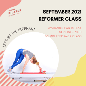 September 2021 Monthly 50-Min Class Monthly Reformer Square