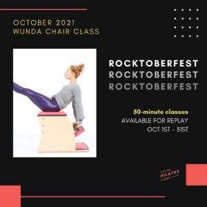 October 2021 Monthly 50-Min Class Monthly Wunda Chair Square
